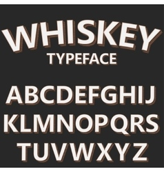 Retro alphabet font old style typeface vector