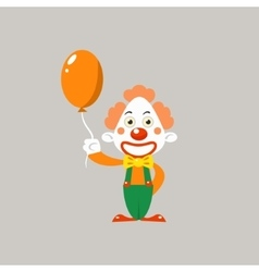 Happy clown holding balloon vector