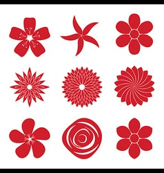 Icon set of flower vector
