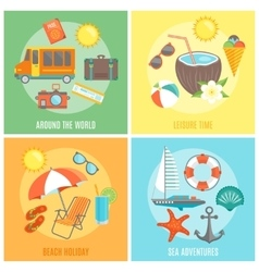 Summer isolated icon set vector
