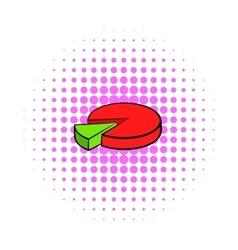 Pie chart icon comics style vector image