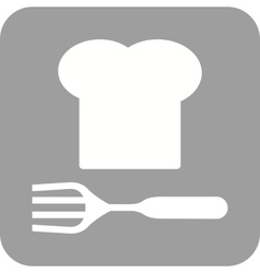 Chef hat and fork vector