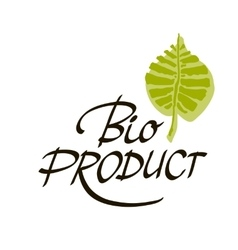 Hand-sketched typographic element bio product - vector