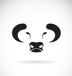 Bull face design vector image