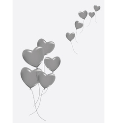A lot of hearts vector image