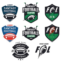 American football fantasy league design elemens vector