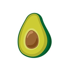 Avocado simple cartoon Isolated on a white vector image