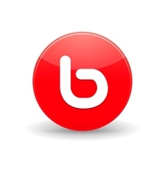 Bebo icon in simple style vector image vector image