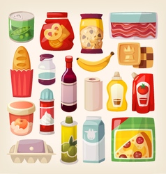 Colorful product icons vector