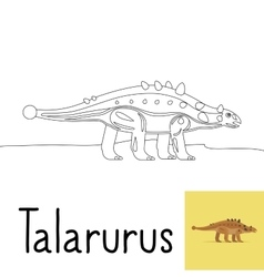 Coloring page for kids with Talarurus vector image