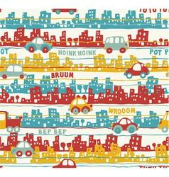 Cute urban traffic vector