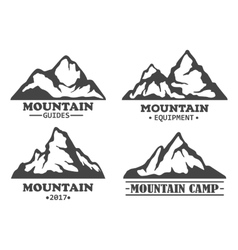 Exploration mountains with rocky peaks vector