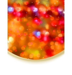 Glitter holiday card vector