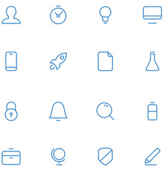 icons material design style vector image vector image