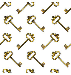 key seamless pattern interior accessory for door vector image