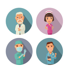 male female doctor character set icon vector image