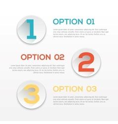 Modern flat design template vector image
