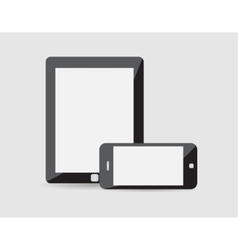 modern phone tablet on a vector image vector image