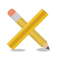 Pencil and ruler instrument design vector