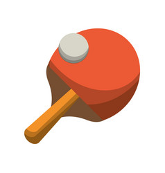 Ping pong racket and ball vector
