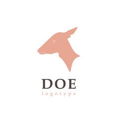 profile silhouette doe vector image