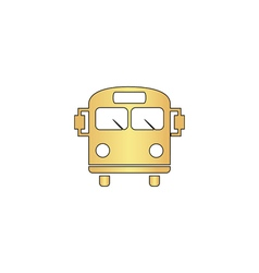 School bus computer symbol vector