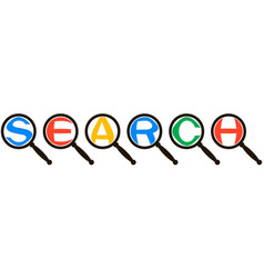 search system icon concept magnified letters vector image vector image