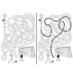 Soccer maze vector image vector image
