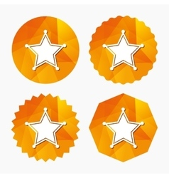 Star Sheriff sign icon Police button vector image vector image