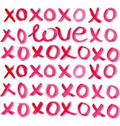Valentine Day Heart and watercolor lettering vector image vector image