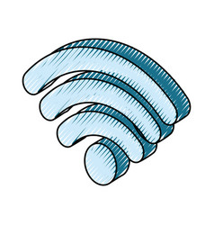 wifi sign vector image
