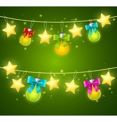 Xmass or Holiday Background vector image