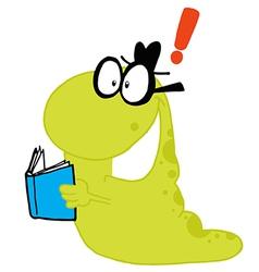 Green worm vector