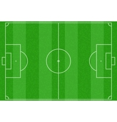 Realistic striped green football or soccer field vector