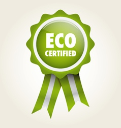 Label eco certified vector