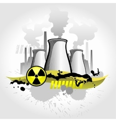 Nuclear plant abstract background vector
