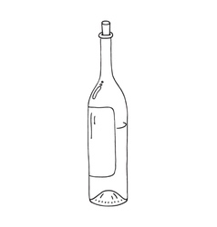 Wine botle icon vector
