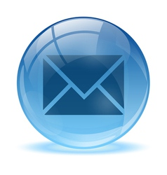 Blue abstract 3d mail icon vector image