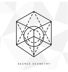 Sacred geometry sign vector