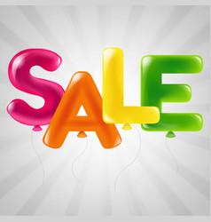 Color balloons sale text vector