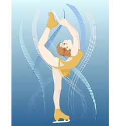 Girl figure skater vector