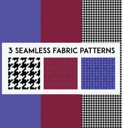 3 seamless pattern for fabrics or backgrounds vector