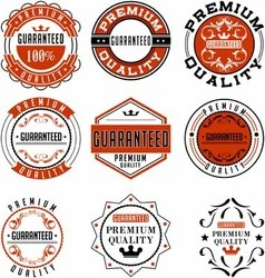 Vintage label design guarantee vector
