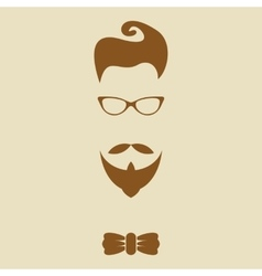 Hipster elements silhouette vector