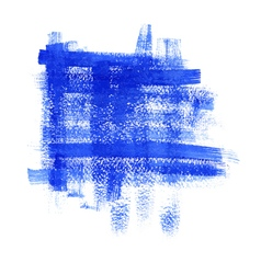 Blue paint abstract background vector
