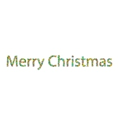 Merry christmas lettering from colourful confetti vector