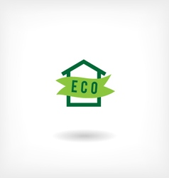 Eco home low-energy houseg icon vector image