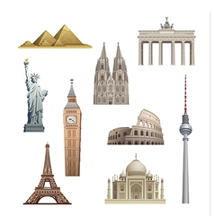 Landmarks of the world vector