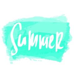 Summer greeting card design vector