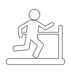 Person running on treadmill vector